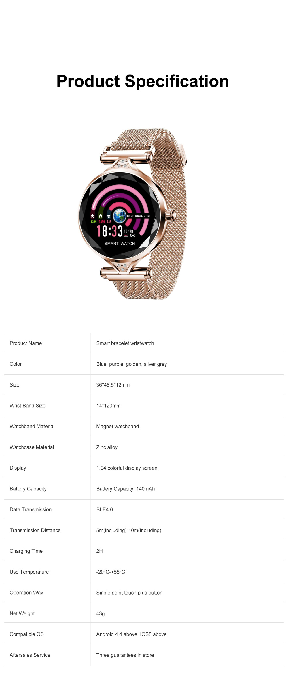 Multifunctional Smart Wrist Watch for Women Daily Wear Fashionable and Smart Bracelet Bluetooth Colorful Screen Wristwatch 12