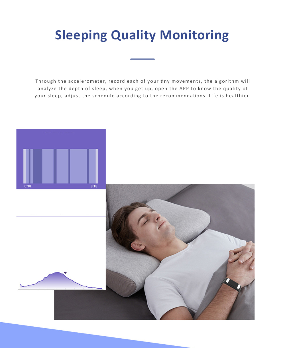 Smart Sports Wristband Bracelet IP67 Fitness Tracker Bracelet for Fat Detecting Blood Pressure Heart Rate Sleeping Quality Monitoring 8