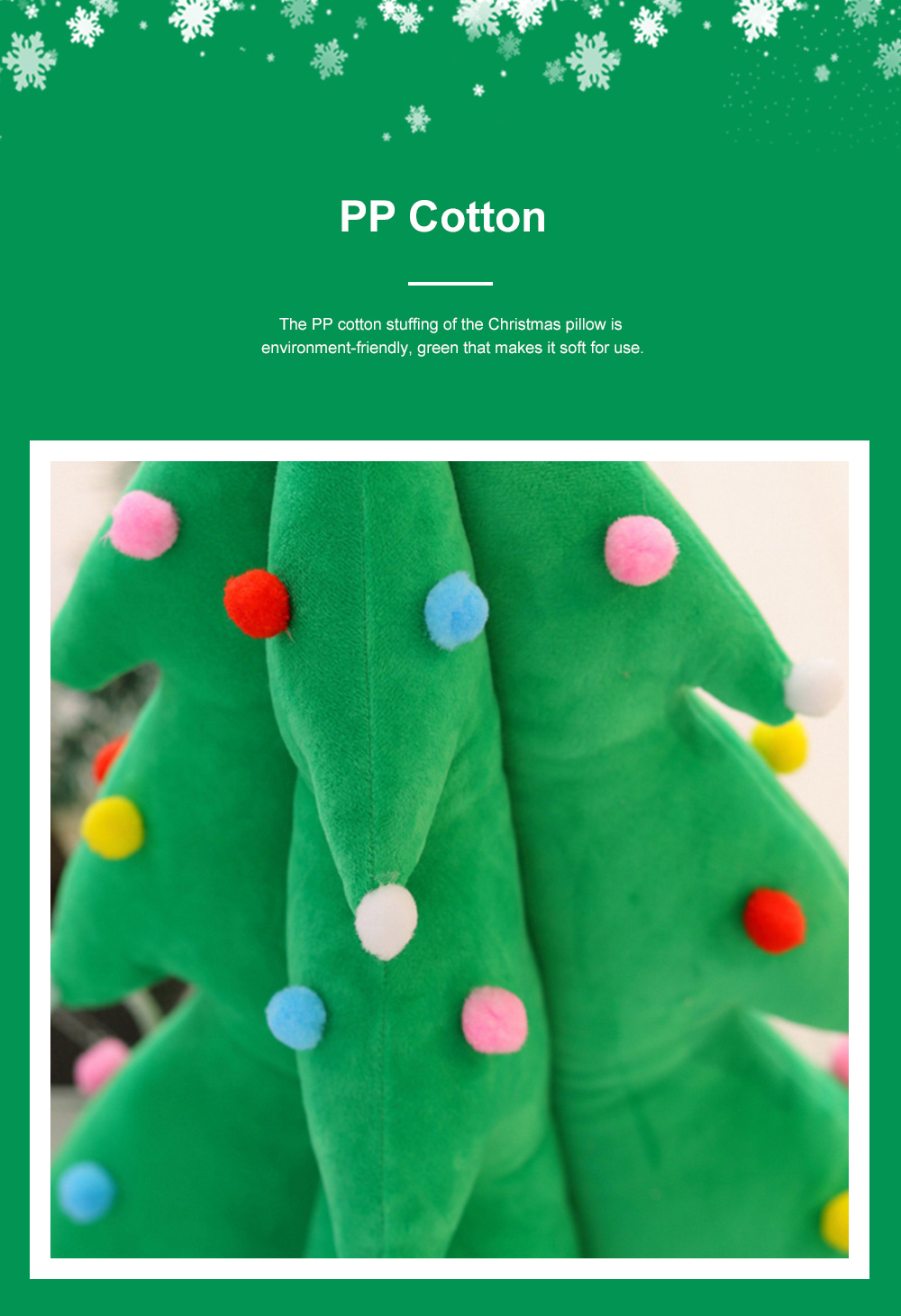 Music Christmas Tree Pillow for Gift Choice Luminous Musical Throw Pillow Stuffed Toy Environment-friendly PP Cotton Bolster 4