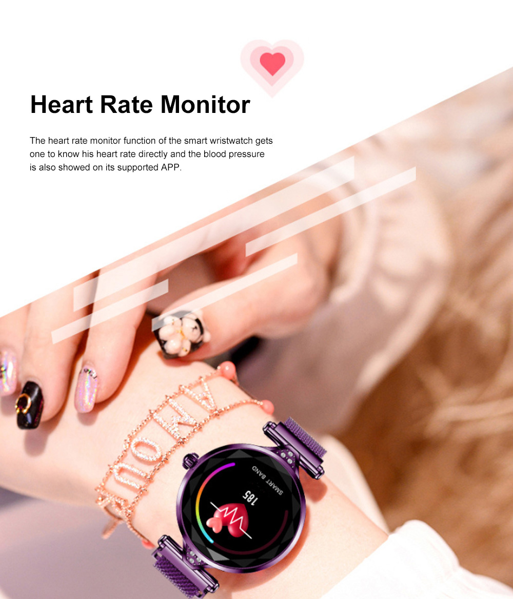 Multifunctional Smart Wrist Watch for Women Daily Wear Fashionable and Smart Bracelet Bluetooth Colorful Screen Wristwatch 9