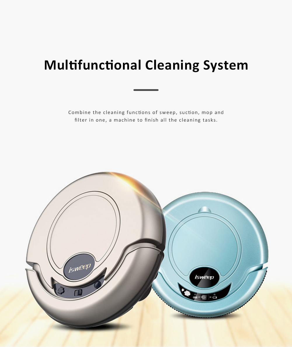 Home Cleaning Robotic Machine Vacuum Cleaner with 1200Pa Ultra Strong Suction and 1500mAh Battery for House cleaning and Air Purifying 2