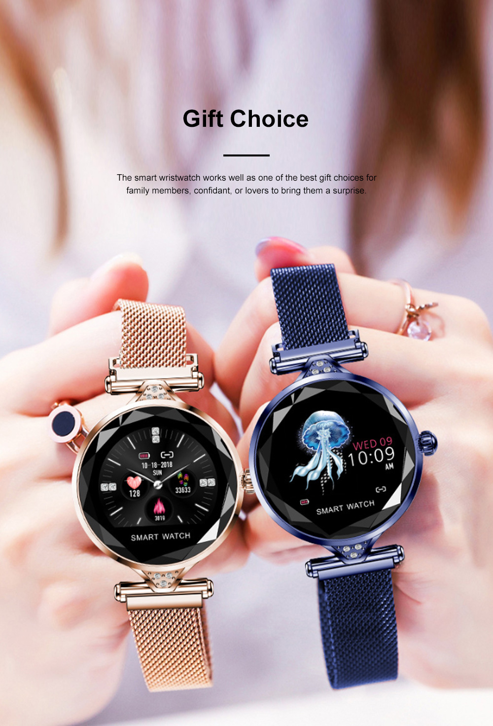 Multifunctional Smart Wrist Watch for Women Daily Wear Fashionable and Smart Bracelet Bluetooth Colorful Screen Wristwatch 4
