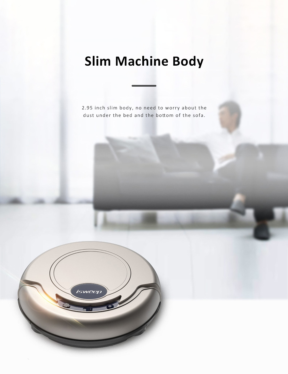 Home Cleaning Robotic Machine Vacuum Cleaner with 1200Pa Ultra Strong Suction and 1500mAh Battery for House cleaning and Air Purifying 7