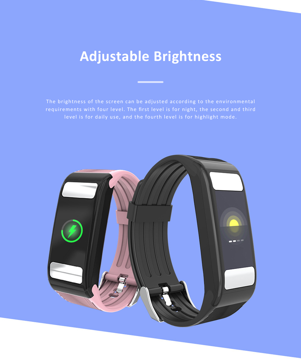 Smart Sports Wristband Bracelet IP67 Fitness Tracker Bracelet for Fat Detecting Blood Pressure Heart Rate Sleeping Quality Monitoring 9