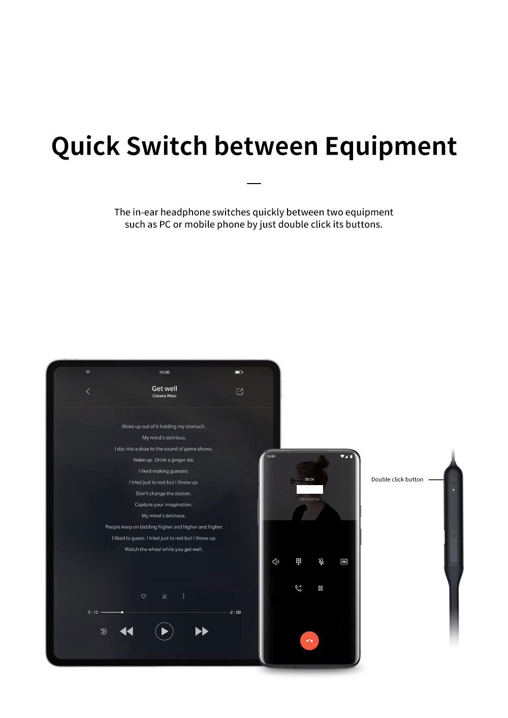 ONEPLUS Bullet Wireless 2 In-ear Headphone for Music Listening Phone Calling Warp Charge and Quick Connection Bluetooth Earphone 3