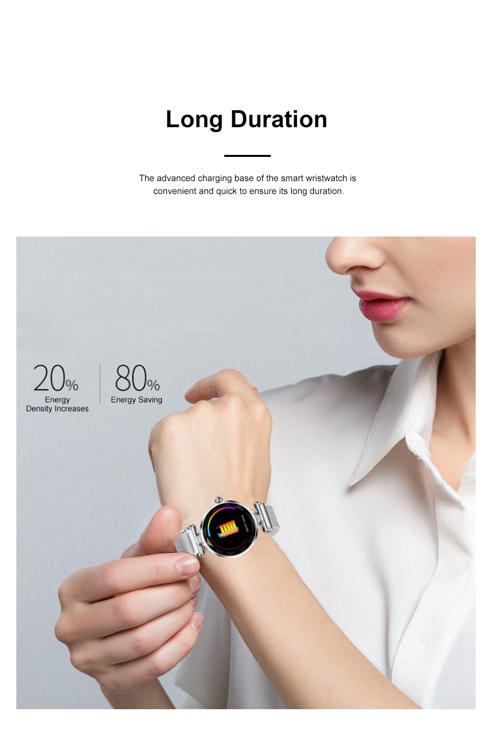 Multifunctional Smart Wrist Watch for Women Daily Wear Fashionable and Smart Bracelet Bluetooth Colorful Screen Wristwatch 3