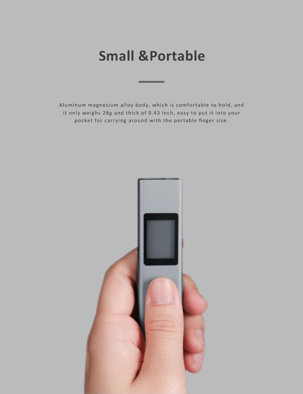 Xiaomi DUKA LS-P Laser Distance Rangefinder Mini Hand-held Digital Distance Meter with 200mAh Battery for Distance Area Volume Measurement 1