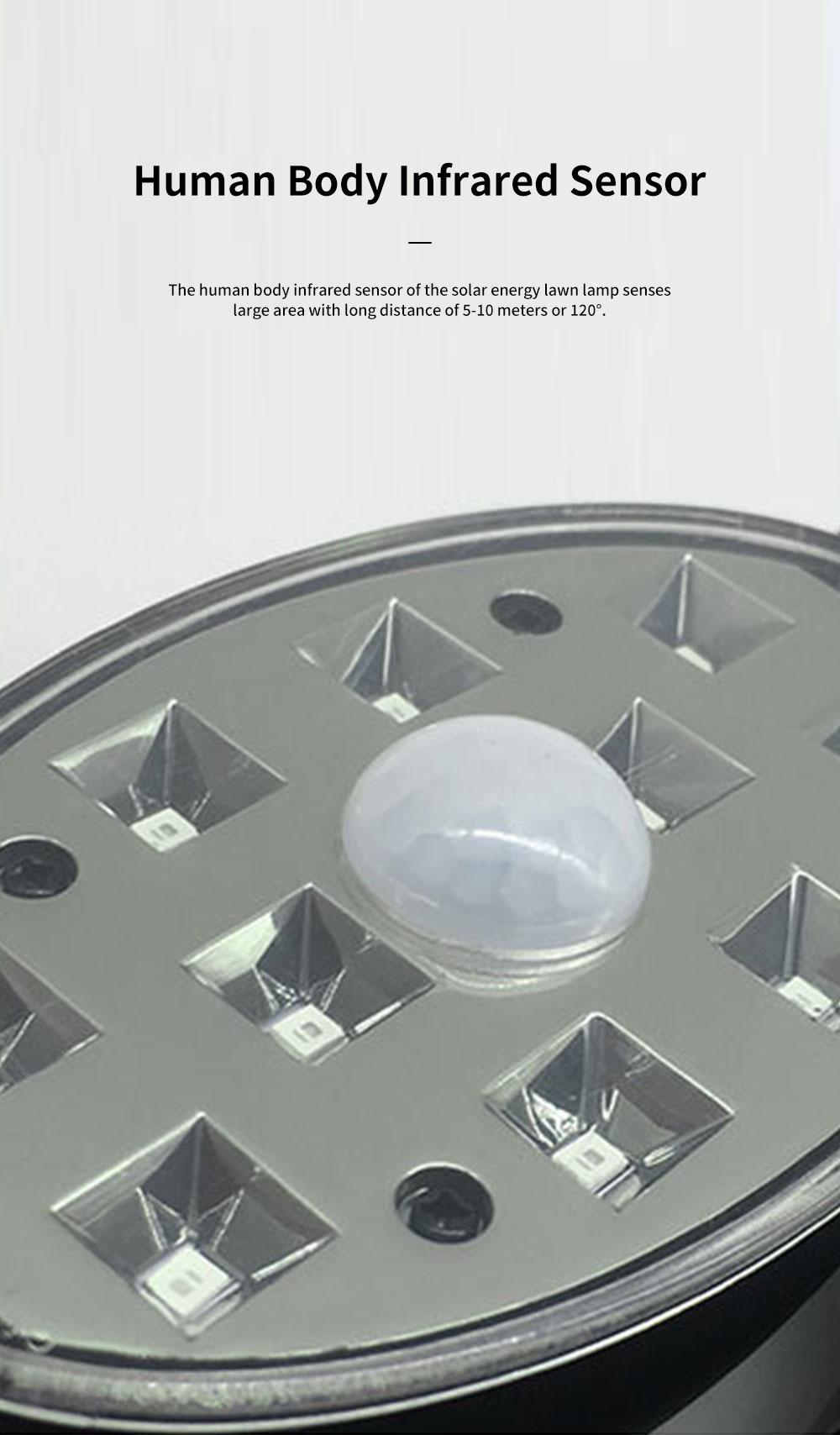 Solar Energy Ultra Thin Wall Lamp for Lawn Lighting Decoration Body Sensing Flat Panel Lawn Light Ultrathin Waterproof Lawn Lamp 2