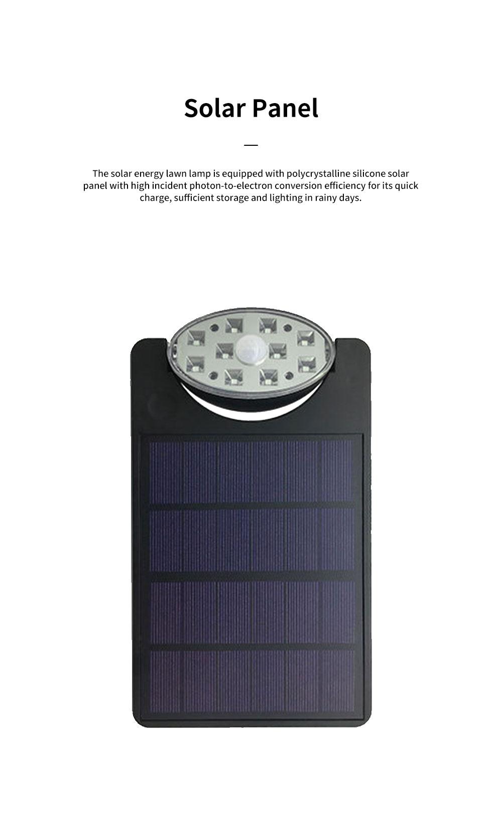 Solar Energy Ultra Thin Wall Lamp for Lawn Lighting Decoration Body Sensing Flat Panel Lawn Light Ultrathin Waterproof Lawn Lamp 1