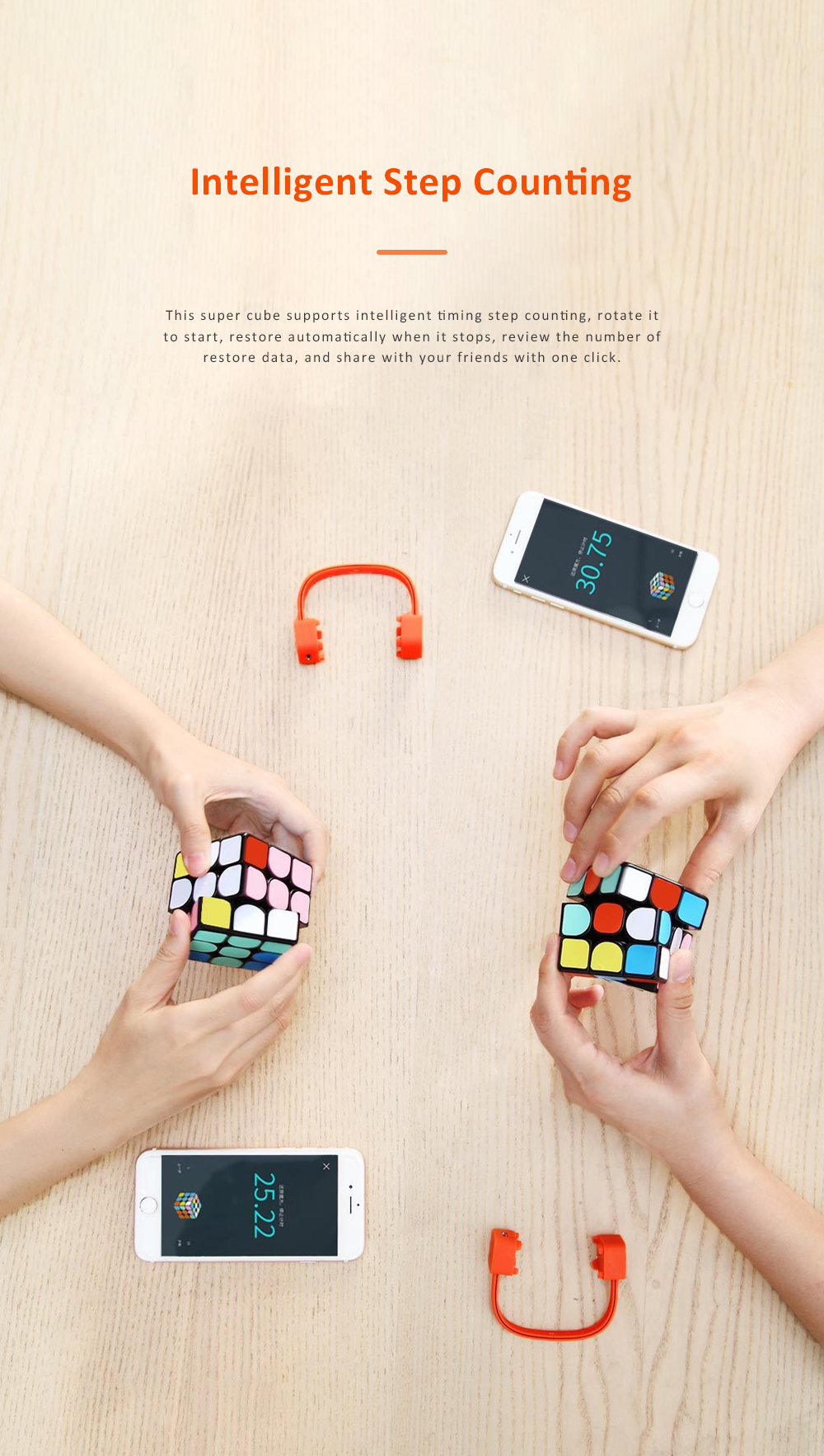 MI GIIKER Intelligent Super Cube Smart Magic Cube with Bluetooth Connection Real-time Sync for Education and Playing 6