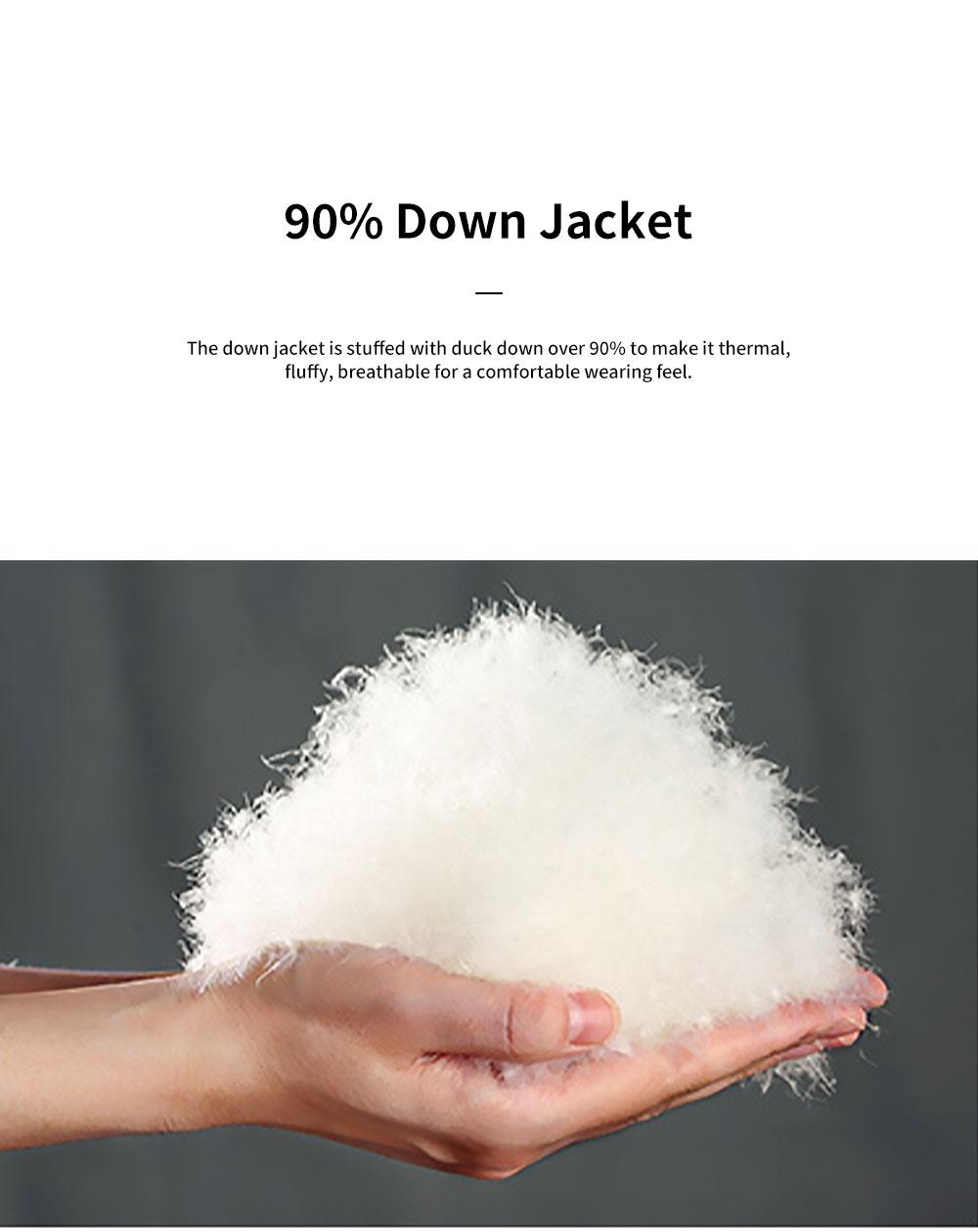 ELFSACK 2019 NEW Splicing Glossy Down Jacket for Women Winter Wear Loose Down Coat Fashion Down Jacket 2