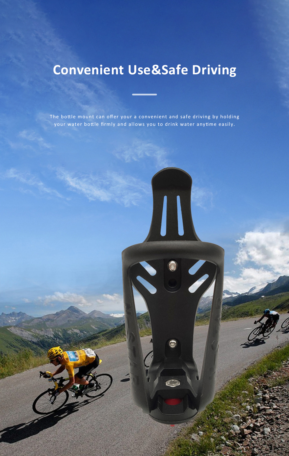 N-STAR Bicycle Water Bottle Mount Motorcycle Water Bottle Holder Brackets with Adjustable Size for Safe Outdoor Activities 5