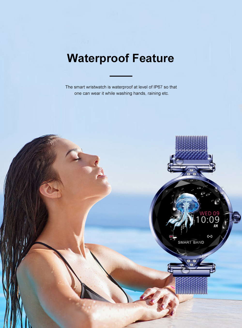 Multifunctional Smart Wrist Watch for Women Daily Wear Fashionable and Smart Bracelet Bluetooth Colorful Screen Wristwatch 11