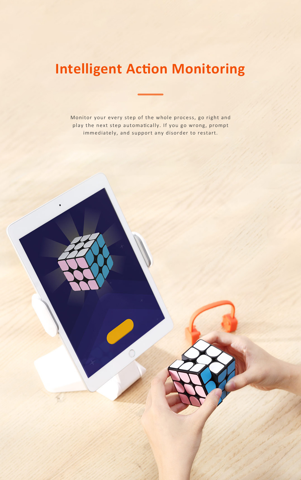 MI GIIKER Intelligent Super Cube Smart Magic Cube with Bluetooth Connection Real-time Sync for Education and Playing 4