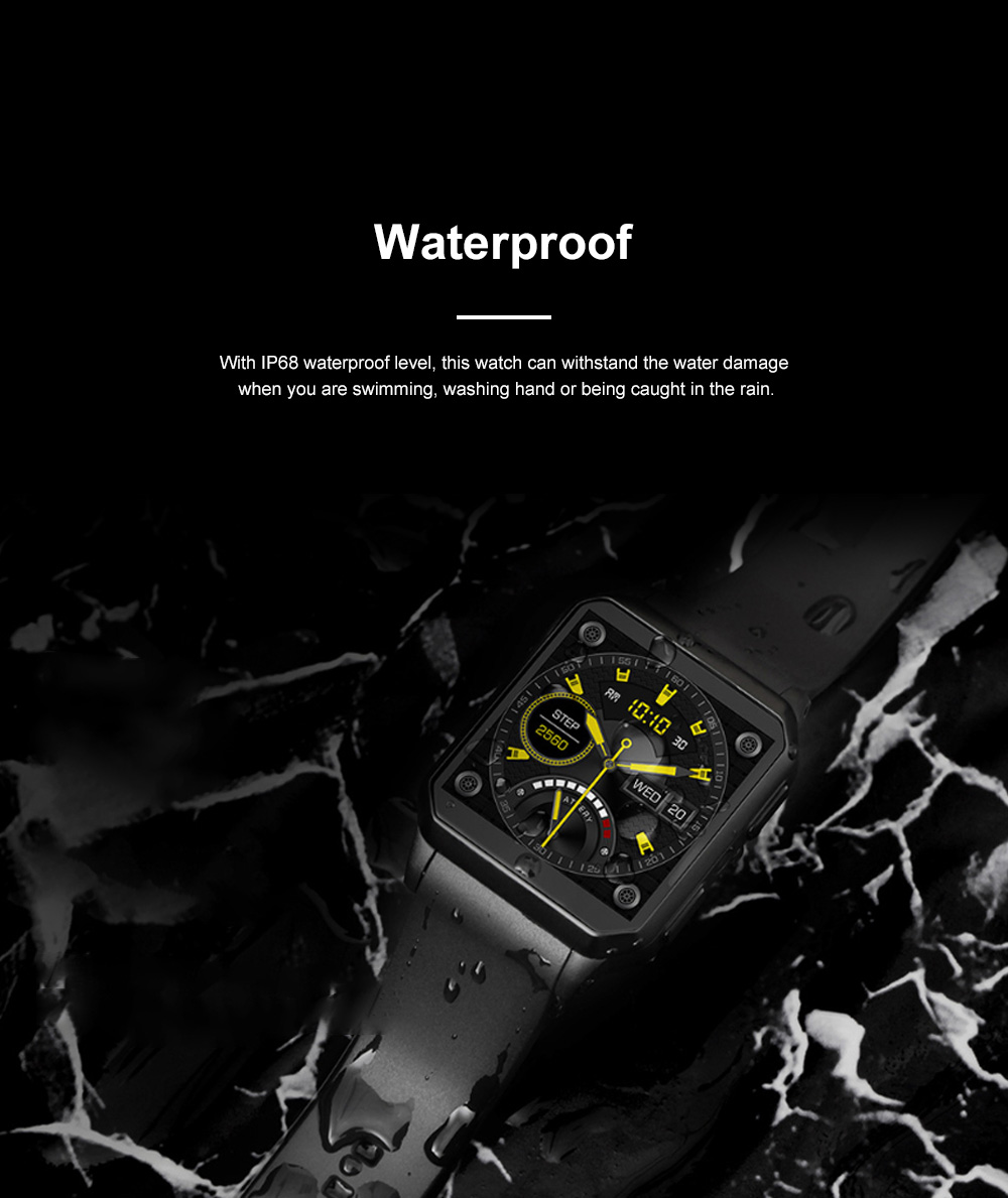 KINGWEAR Multifunctional Waterproof Support Plug-in Card Android Bluetooth Phone Sports Intelligent Watch Smartwatch GPS Reminding 2