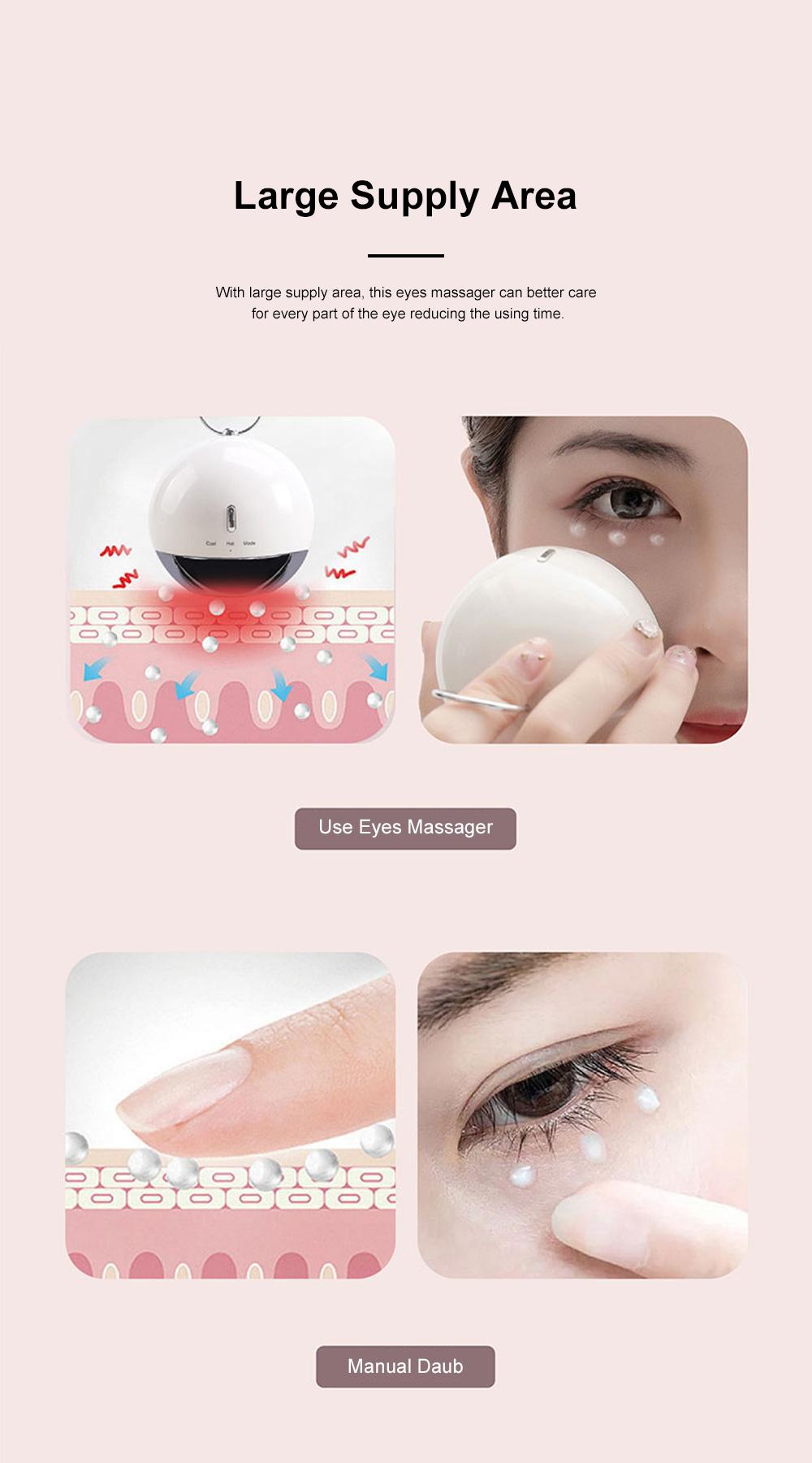 MIPOW Eye Massage Machine Portable Long Endurance Remove Black Circle Wrinkles Hot Cold Compress Dual Modes Vibration Eyes Massager 3