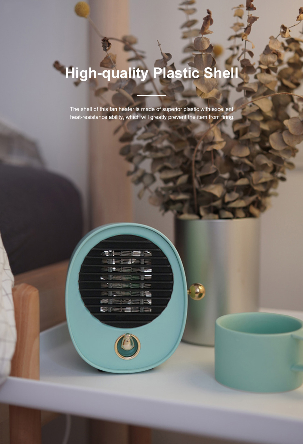 Portable Quick Heating Dormitory Mini Household Mute Desktop Fan Heater Strong Hot Wind Energy Conservation 5