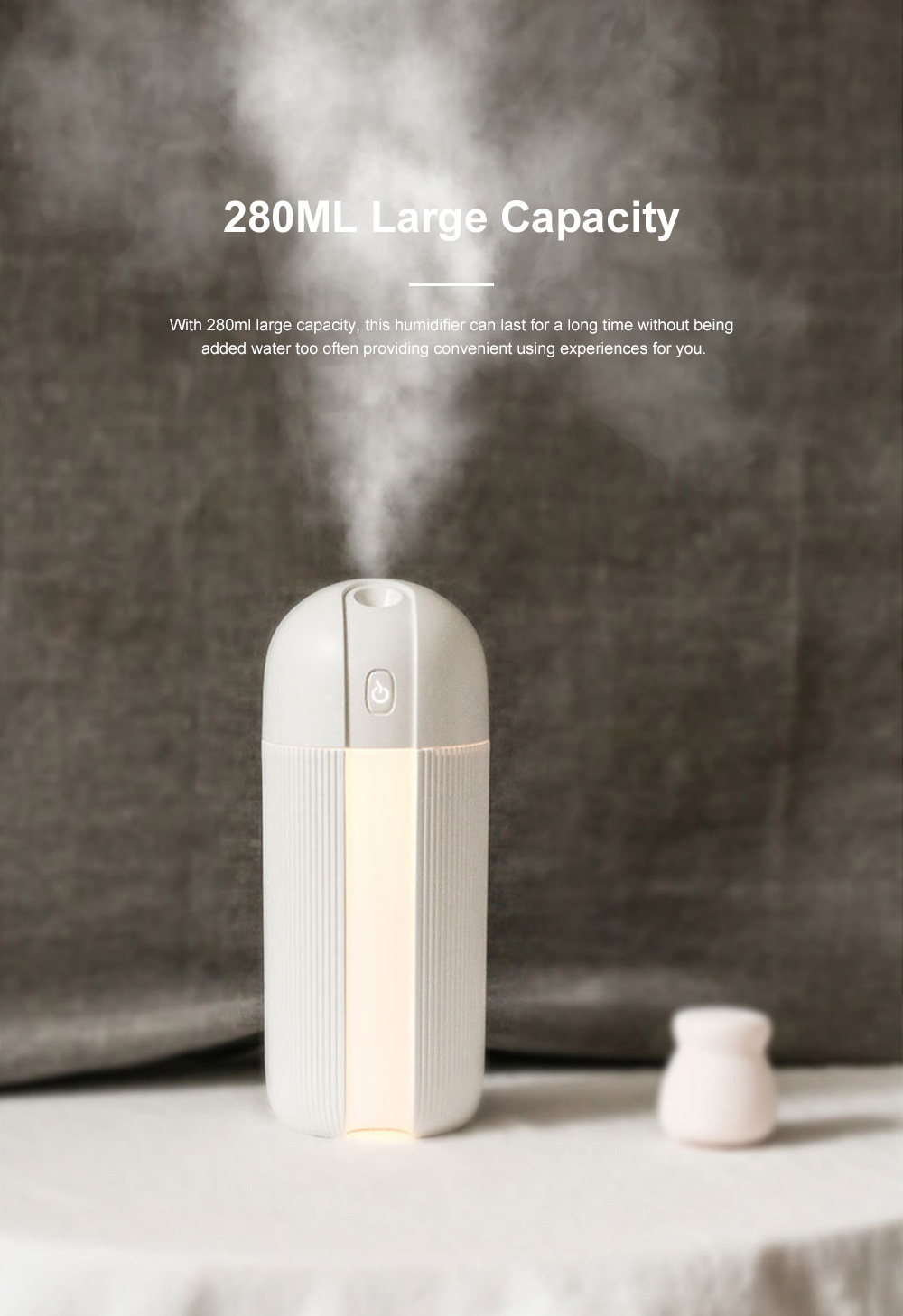 Mini Portable Car Humidifier Large Capacity Long Endurance Wireless USB Charging Mute Humidifier Night Light with Timing Function 2
