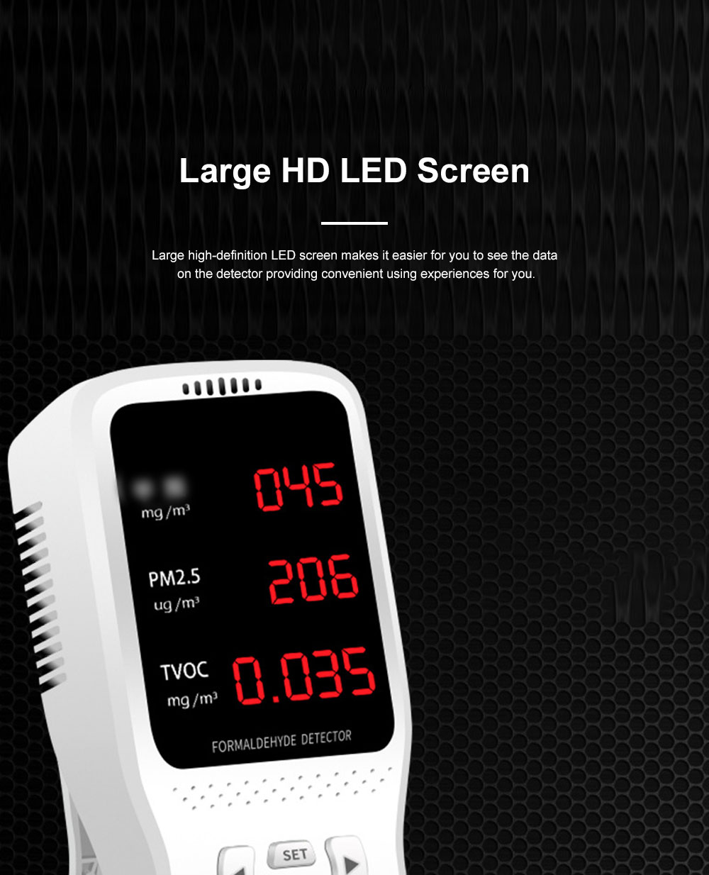 JBL Professional Stable Quick Household PM2.5 TVOC Formaldehyde Air Quality Detector with Intelligent Chip Large HD Screen 6