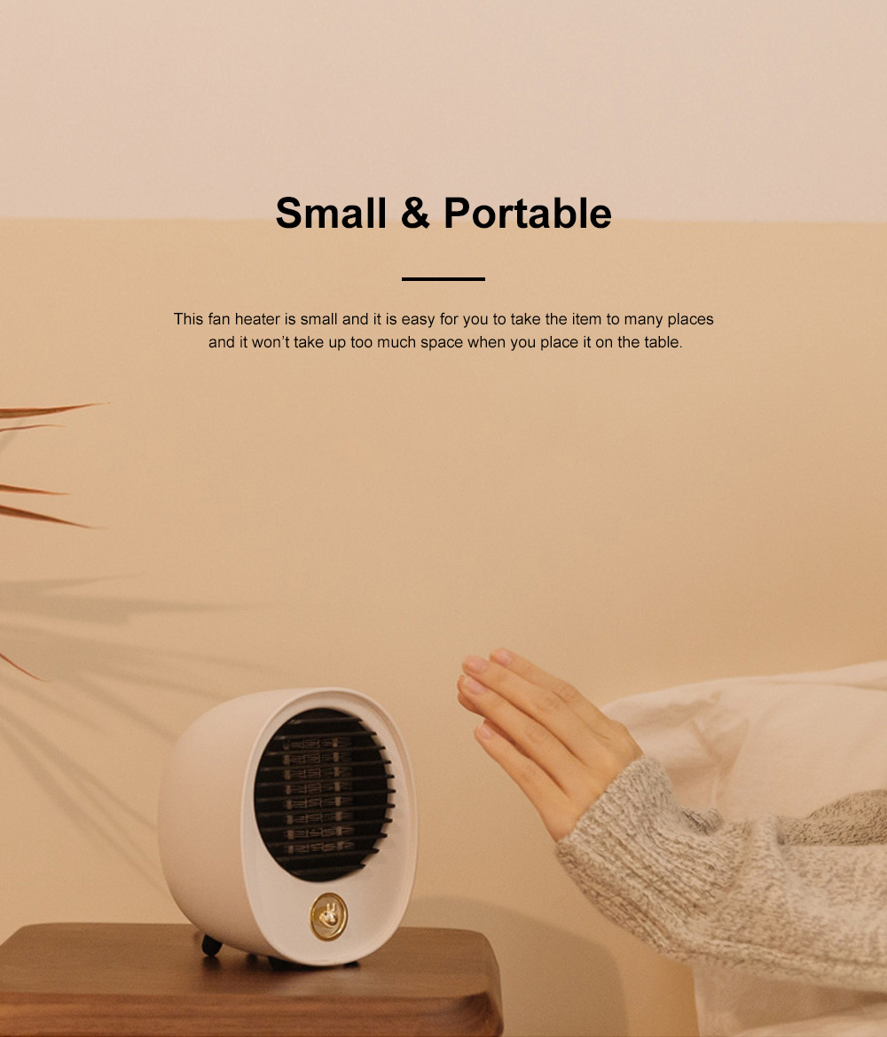 Portable Quick Heating Dormitory Mini Household Mute Desktop Fan Heater Strong Hot Wind Energy Conservation 1