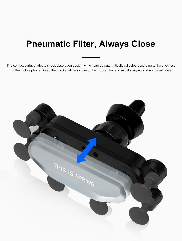 Suitable For iPhone X XR XS MAX Samsung S8 S9 Car Vent Phone Holder Navigation Mobile Bracket Car Gravity Bracket 1