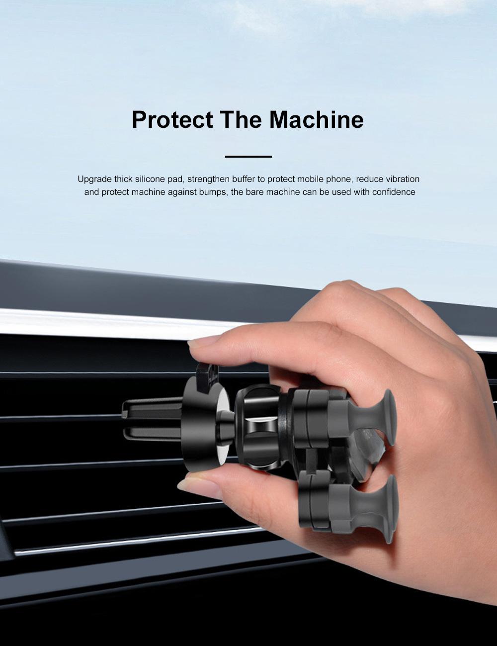 Suitable For iPhone X XR XS MAX Samsung S8 S9 Car Vent Phone Holder Navigation Mobile Bracket Car Gravity Bracket 8