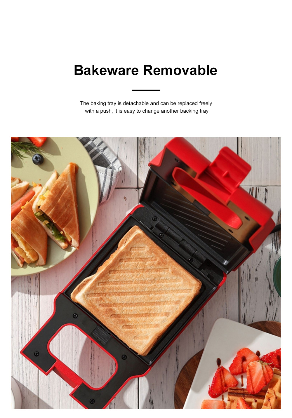Kitchen Multifunctional Three-minute Breakfast Machine Sandwich Maker Waffle For Making Toast Bread Cookies Muffins Price 3