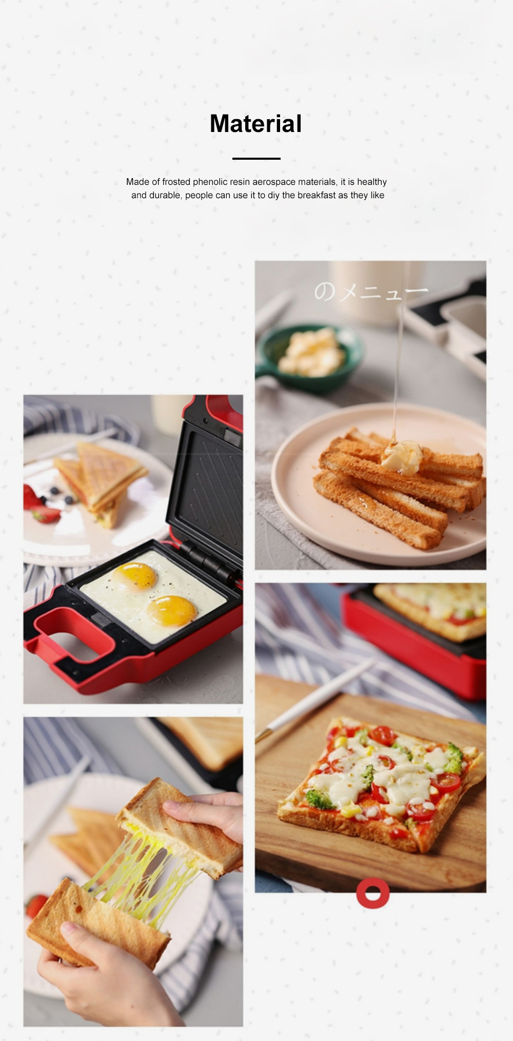 Kitchen Multifunctional Three-minute Breakfast Machine Sandwich Maker Waffle For Making Toast Bread Cookies Muffins Price 6