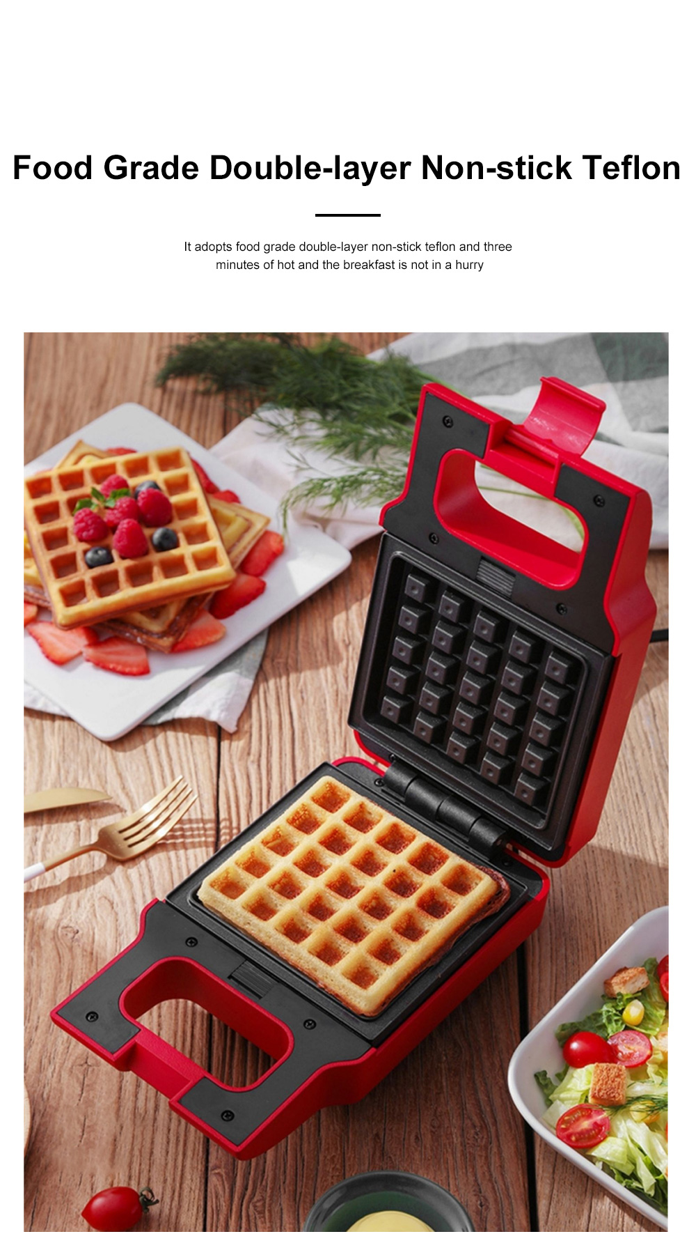 Kitchen Multifunctional Three-minute Breakfast Machine Sandwich Maker Waffle For Making Toast Bread Cookies Muffins Price 5