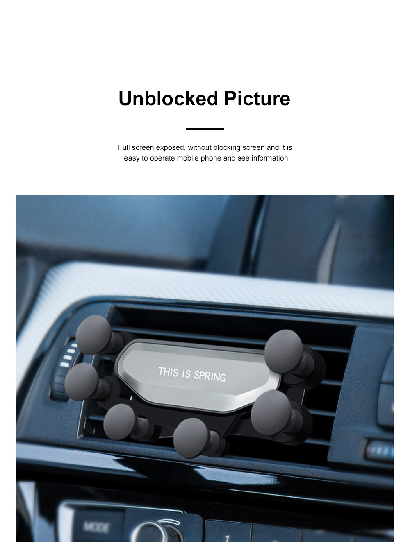 Suitable For iPhone X XR XS MAX Samsung S8 S9 Car Vent Phone Holder Navigation Mobile Bracket Car Gravity Bracket 7