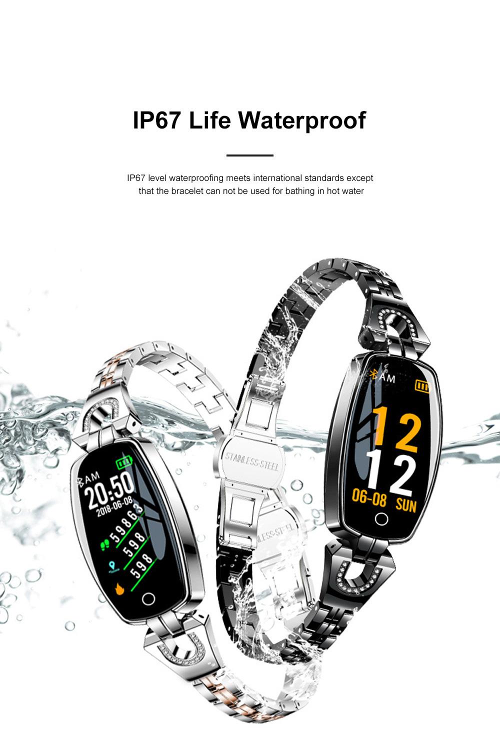 2019 Women Lady Fashion Smart Wristband H8 Heart Rate Blood Pressure Smart Bracelet Fitness Tracker Smart Watch Band Female Girl Gift 3