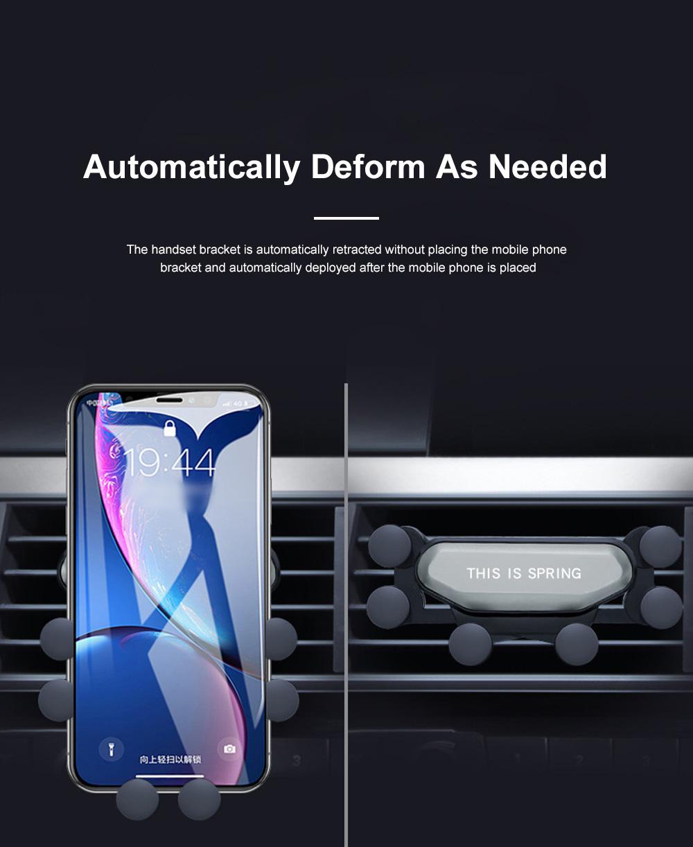 Suitable For iPhone X XR XS MAX Samsung S8 S9 Car Vent Phone Holder Navigation Mobile Bracket Car Gravity Bracket 2