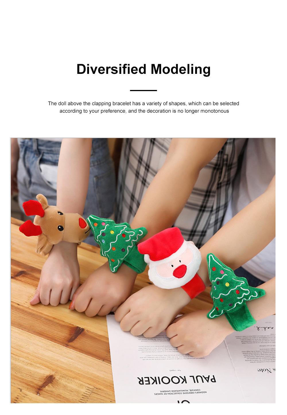 Christmas Decorations Elk Clapping Circle Children Creative Clapping Bracelet Santa Claus Clapping Circle 3