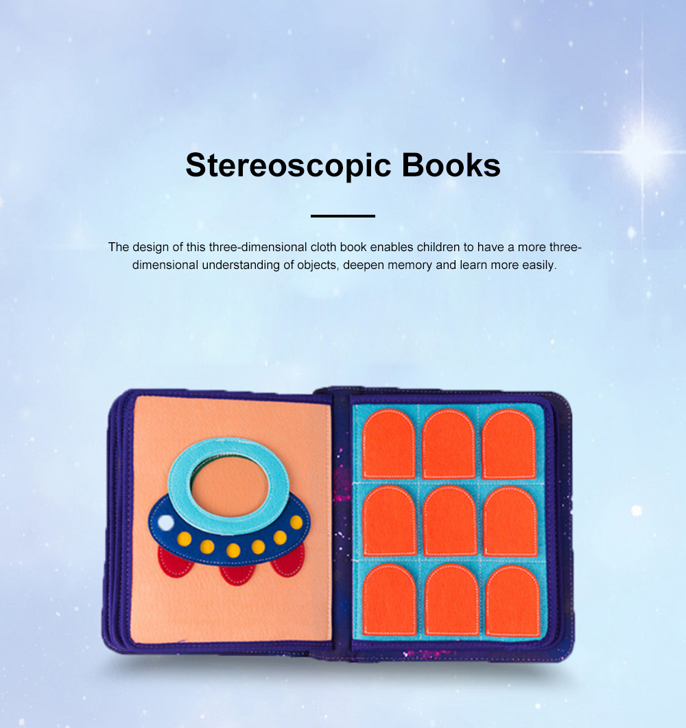 MY FIRST BOOK Space Book Limited Edition Children's Early Education Book Three-dimensional Cloth Book 5