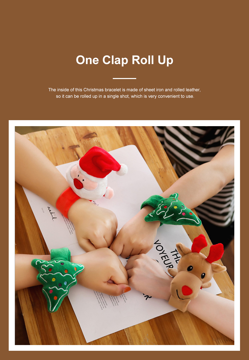 Christmas Decorations Elk Clapping Circle Children Creative Clapping Bracelet Santa Claus Clapping Circle 2