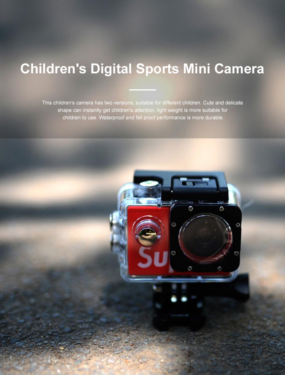 Children's 2.0 LCD Digital Mini Sports Camera 4K High Definition Waterproof and Fall Proof Camera Christmas Kids Gift 0