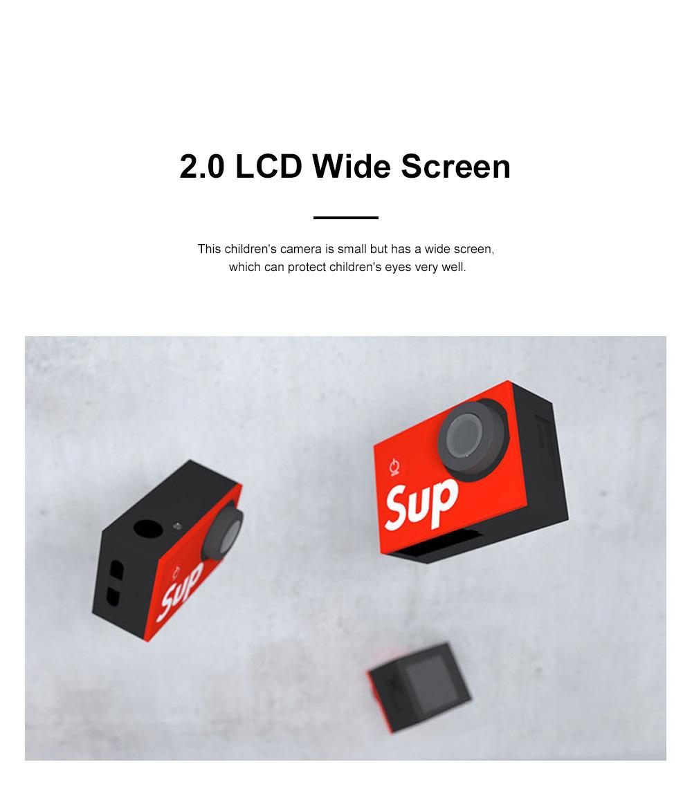Children's 2.0 LCD Digital Mini Sports Camera 4K High Definition Waterproof and Fall Proof Camera Christmas Kids Gift 3