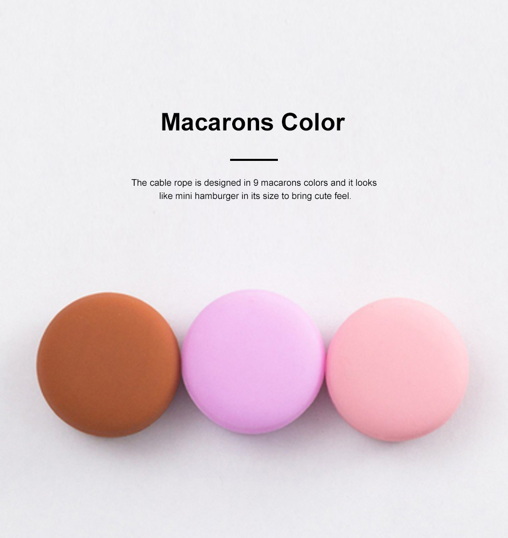 IWO Multifunctional Macarons Cable Wire Wrapper for Office Family Use Creative Convenient Wire Fixing Gadget Easy to Use Cable Rope 2