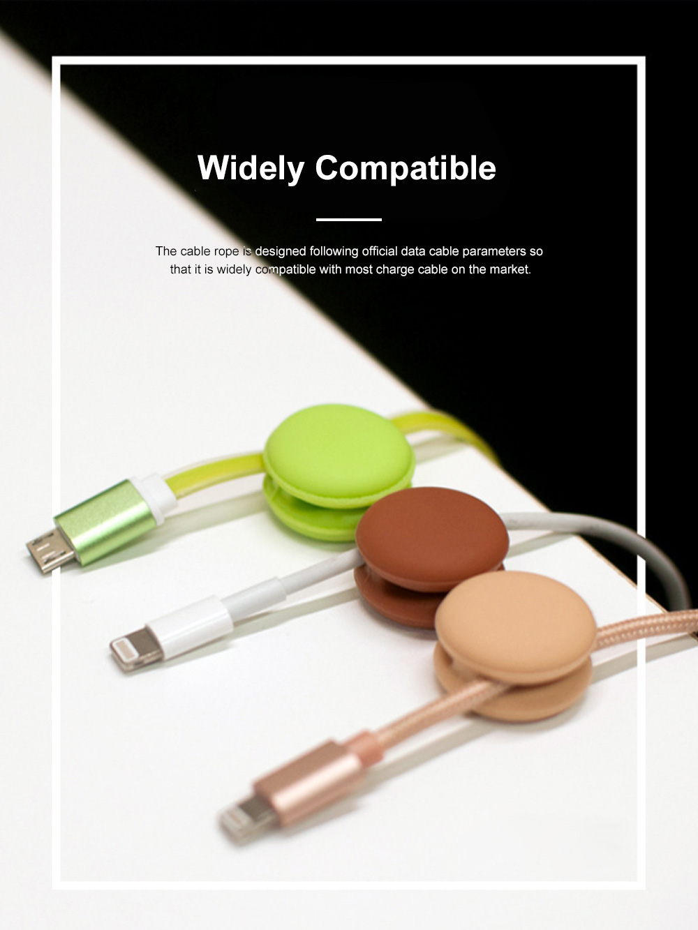 IWO Multifunctional Macarons Cable Wire Wrapper for Office Family Use Creative Convenient Wire Fixing Gadget Easy to Use Cable Rope 4