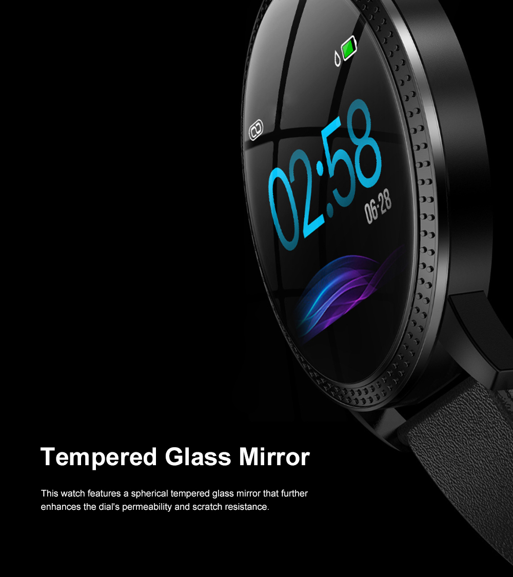 Multifunctional Waterproof Large Round Screen Intelligent Smart Watch with Leather Strap Bluetooth Photographing 4