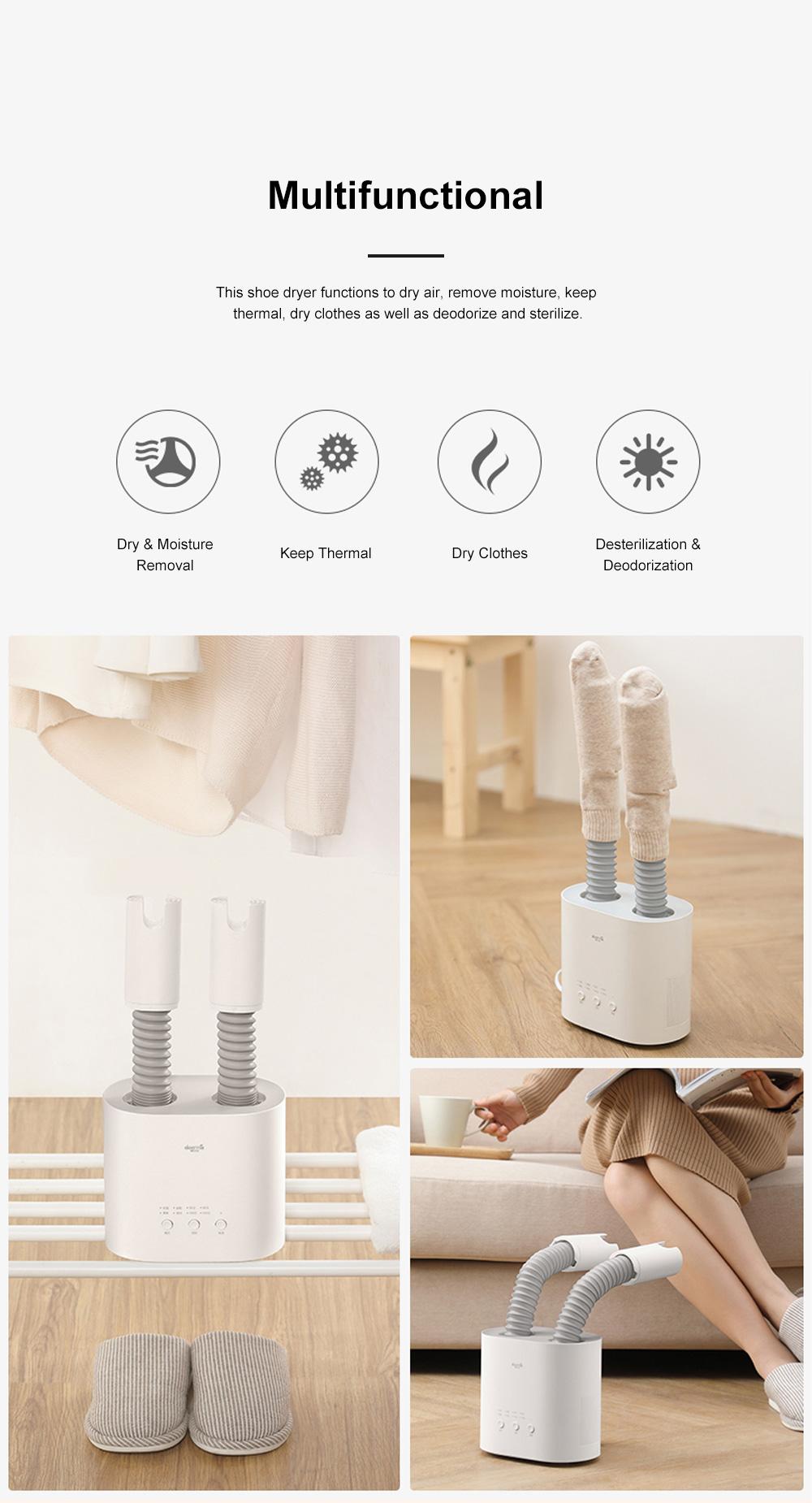 DEERMA Multiple-effect Shoe Dryer for Family Use Deodorizing and Sterilizing Drying Machine Multifunctional Telescopic Shoe Dryer 2