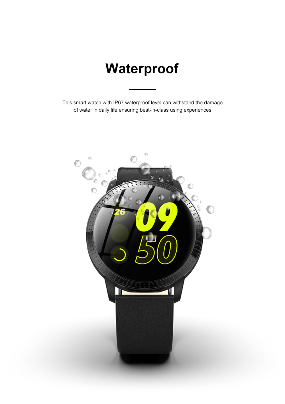 Multifunctional Waterproof Large Round Screen Intelligent Smart Watch with Leather Strap Bluetooth Photographing 7