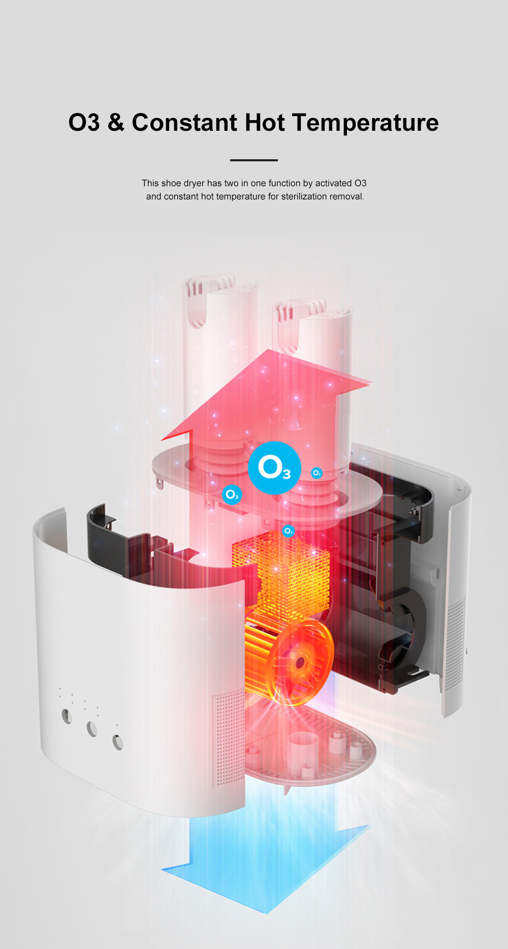 DEERMA Multiple-effect Shoe Dryer for Family Use Deodorizing and Sterilizing Drying Machine Multifunctional Telescopic Shoe Dryer 4