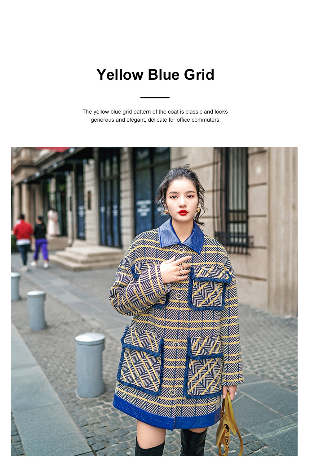 Grid Frock Coat Thickened Loose Great Coat for Women Wear New Style Cotton Clothes Autumn Winter 2019 1