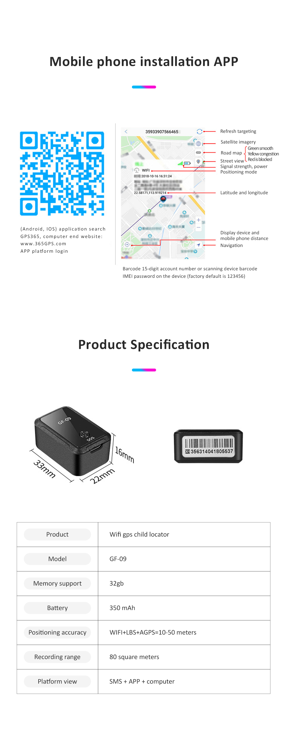Most Popular Wifi Electronic Fence GPS Smart Locator Remote Recording Mini GPS Car Locator GF-09 For Child Safety 11