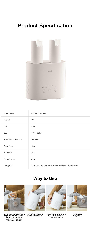 DEERMA Multiple-effect Shoe Dryer for Family Use Deodorizing and Sterilizing Drying Machine Multifunctional Telescopic Shoe Dryer 16