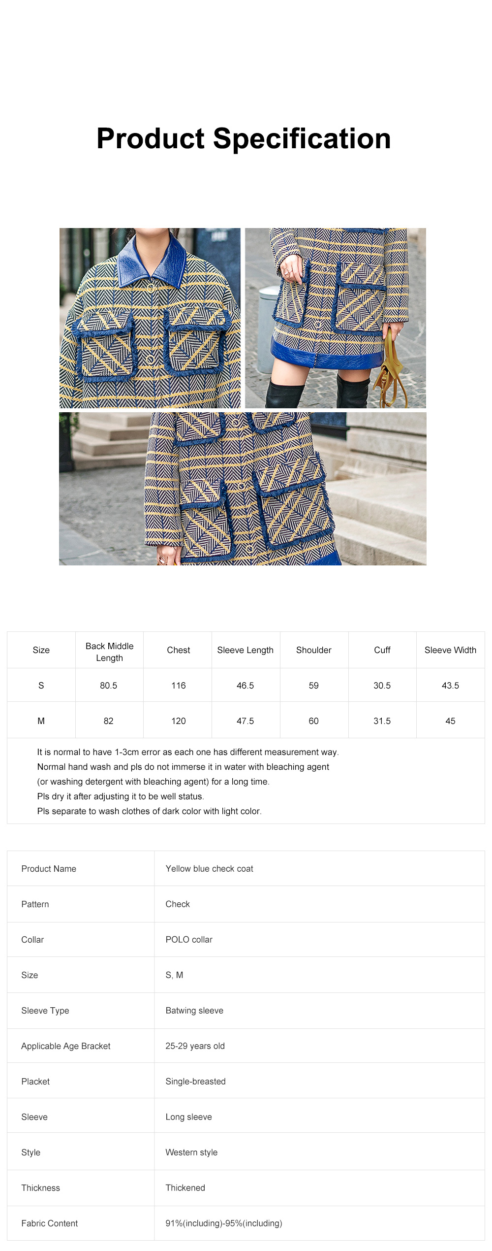 Grid Frock Coat Thickened Loose Great Coat for Women Wear New Style Cotton Clothes Autumn Winter 2019 7