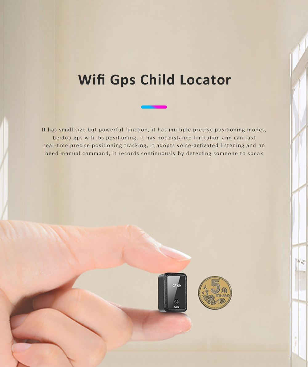 Most Popular Wifi Electronic Fence GPS Smart Locator Remote Recording Mini GPS Car Locator GF-09 For Child Safety 0
