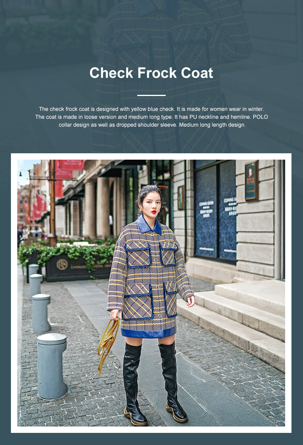 Grid Frock Coat Thickened Loose Great Coat for Women Wear New Style Cotton Clothes Autumn Winter 2019 0