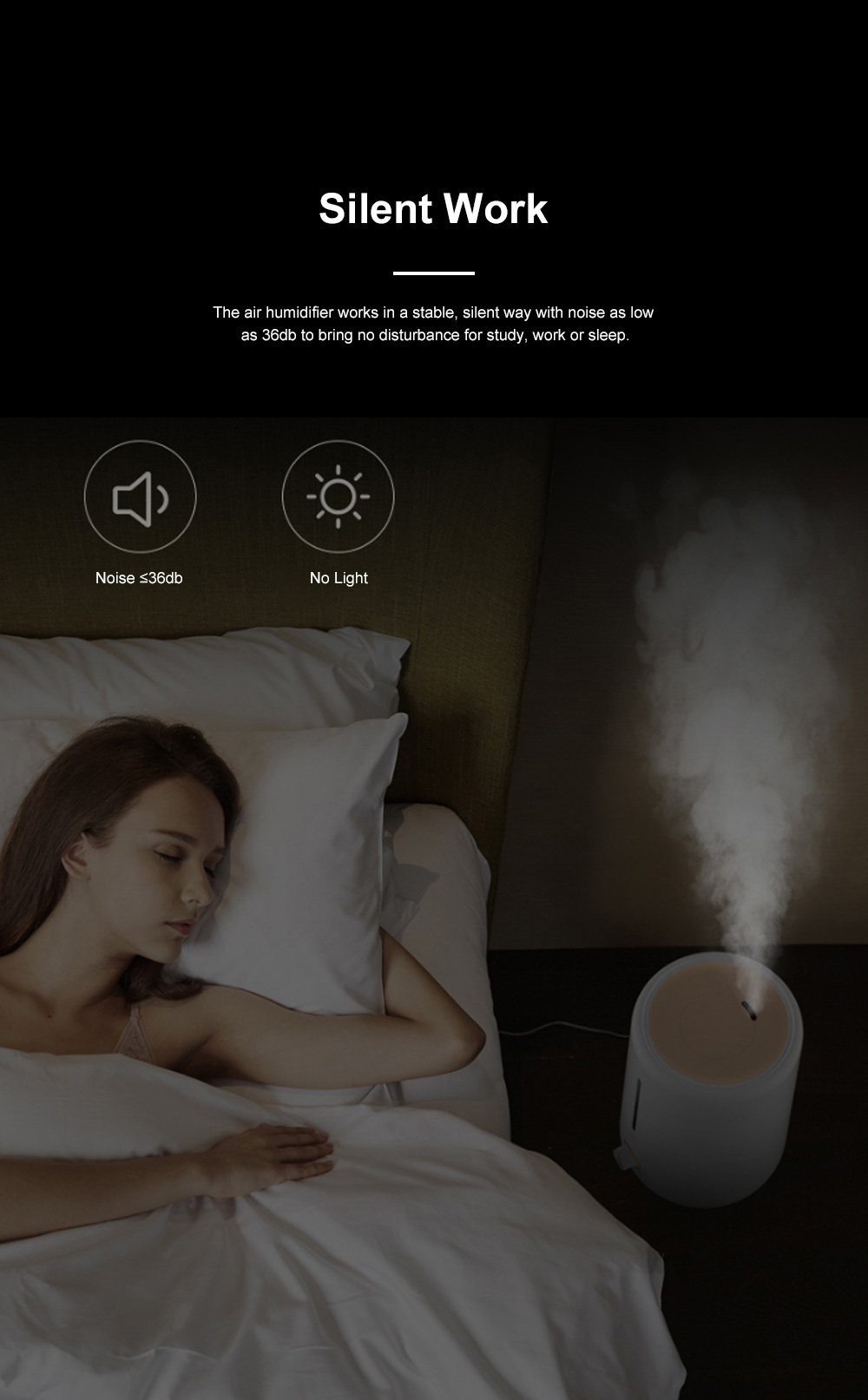 DEERMA Mini Air Humidifier for Bedroom Office Large Capacity Silent Air Moistener Stepless Adjustment Atomizing Humidifier 9